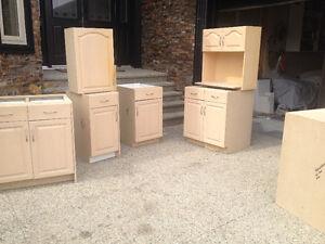 oak solid raise panel kitchen cabinet 2 unit available