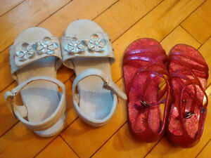 Two size 10 sandals for girls.