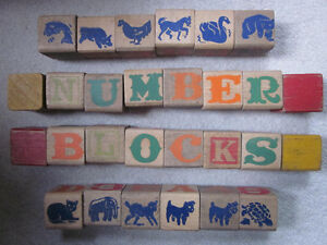 Collection of vintage wooden number/letter blocks Kitchener / Waterloo Kitchener Area image 3