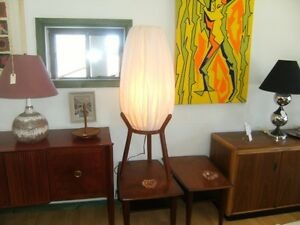 RETRO MID CENTURY FLOOR/POLE/TABLE LAMPS TEAK