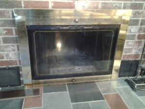 Fireplace doors and screen for sale