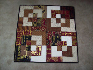 Abstract quilt wall hanging