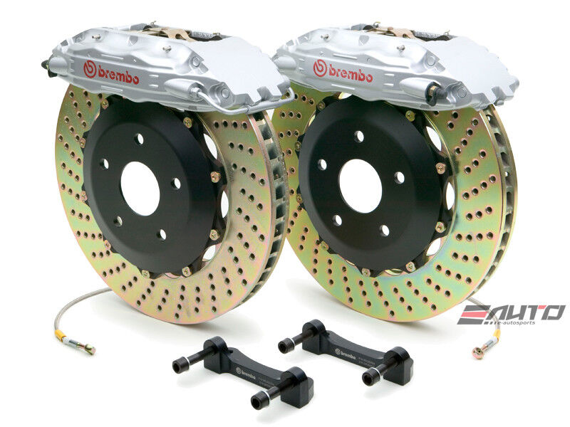 Brembo Front Gt Brake 4pot B Caliper Silver 332x32 Drill Disc S60 S60r V70 V70r
