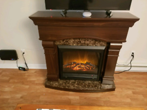 Dark Oak Fireplace &TV Stand
