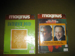 "MAGNUS CHORD ORGAN MUSIC BOOKS ""BACHARACH/DAVID"" #57 et 254"
