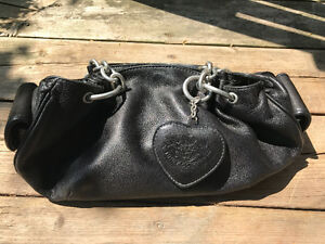 Genuine black leather Juicy Couture purse