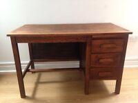 Solid English Oak Desk.