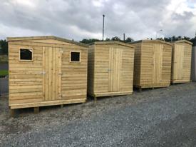 Garden wooden sheds & storage boxes