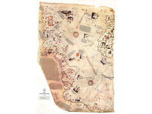 Piri-Reis-Map-1st-map-to-show-Americas-Antarctica-24-X-36-High-Gloss-Poster