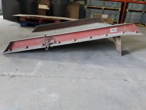 Forklift dock plate