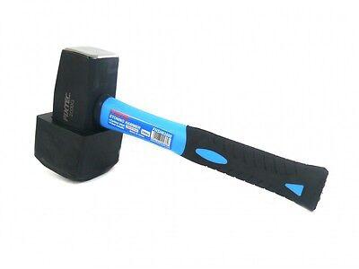 FIXTEC Fäustel 2000 Gramm mit Fäustelaufsatz Pflasterhammer
