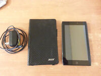 Acer A100 with Case and Charger