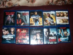 10 BLURAY MOVIES & ELYSIUM BLURAY/DVD       FOR SALE