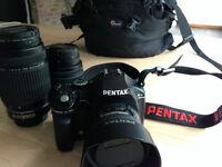 Caméra Pentax K-x + lentilles FA 35mmF2, 18-55mm, 55-300mm