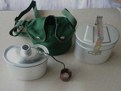 Original Type 78 Chinese ARMY Military Metal Mess Kits Canteen Camping Hiking