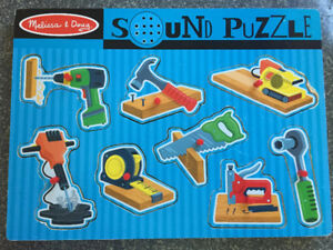 Melissa and Doug Construction Tools Sound Puzzle