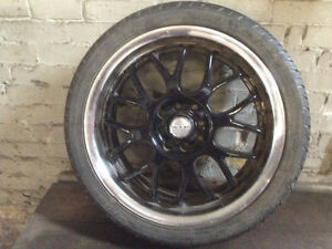 Set of 4 Tires and rims (Like new rubber)