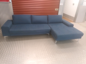 (Sold) MADE DESIGNER CORNER SOFA LOCAL DELIVERY AVAILABLE TODAY