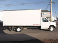 2013 FORD E350 CUBE VAN WITH 16FT BOX AND RAMP