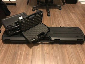 Four carry cases with foam inserts