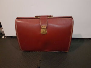 Brown Patent Leather Vintage Briefcase