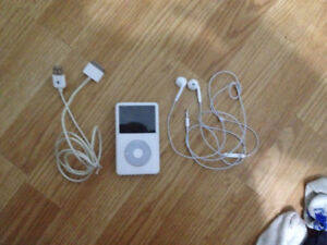 80 GB IPod Classic with power cord and headphones 100$