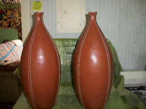 Set of Two,Leather Bottles Decorations--Huge Jugs