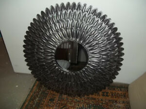 REDUCED SILVER BLACK PEACOCK STYLE MIRROR FOR SALE(PICK UP)
