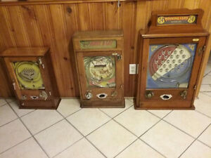 WANTED COIN OPERATED GAMES FROM THE U.K,FRANCE AND GERMANY