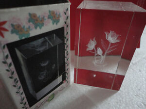 Brand new in box decorative glass crystal floral paper weight London Ontario image 1
