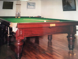 Burroughes & Watts Antique Snooker Table 6 by 12 -Excellent Cond