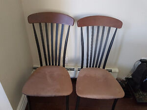 Beautiful tan suede chairs for sale! Peterborough Peterborough Area image 1
