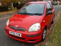 Toyota Yaris 1.0 VVT-i T2 3 DOOR ROSSO RED LOW MILEAGE