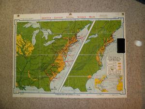 Set of Folding Wall Maps (American History) Kitchener / Waterloo Kitchener Area image 2