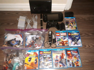 Wii U with 10 games and smash bros on HD