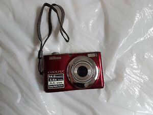 Red Digital Point and Shoot Camera