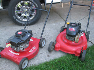 TWO  GAS  LAWNMOWERS