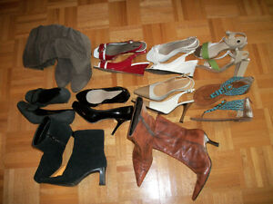 10 PAIRES SOULIERS * SHOES * COMME NEUVES * LIKE NEW *