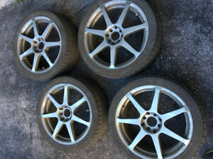 17 x 7 rims. 8/10 condition. 4x100 bolt pattern, now $80!
