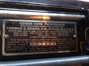 Phonographe Edison 1908