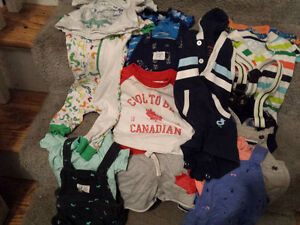 Large lot of boys summer clothes-0 to 6 months