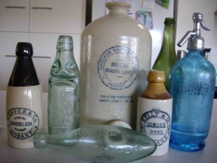 WANTED: TASMANIAN POTTERY AND GLASS ANTIQUE BOTTLE COLLECTIONS