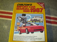Chilton car import manual