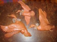 Canards céramique pour décoration murale
