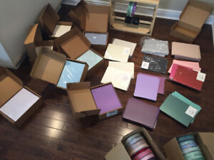 BULK LOT of premium quality pearlescent stationary cardstock