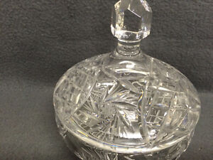 Collectible Antique Pinwheel Crystal Covered Candy Dish London Ontario image 2