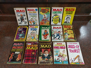 Lot of 15 Vintage Mad Collectible Books