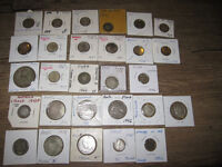 Group of 28 old World Silver Coins 1800s-1960s