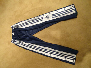 Adidas Blue Tearaway Pants 3 Stripes Basketball Vintage 90s XL/S