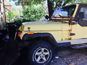 1992 Yellow Jeep - For sale AS-IS